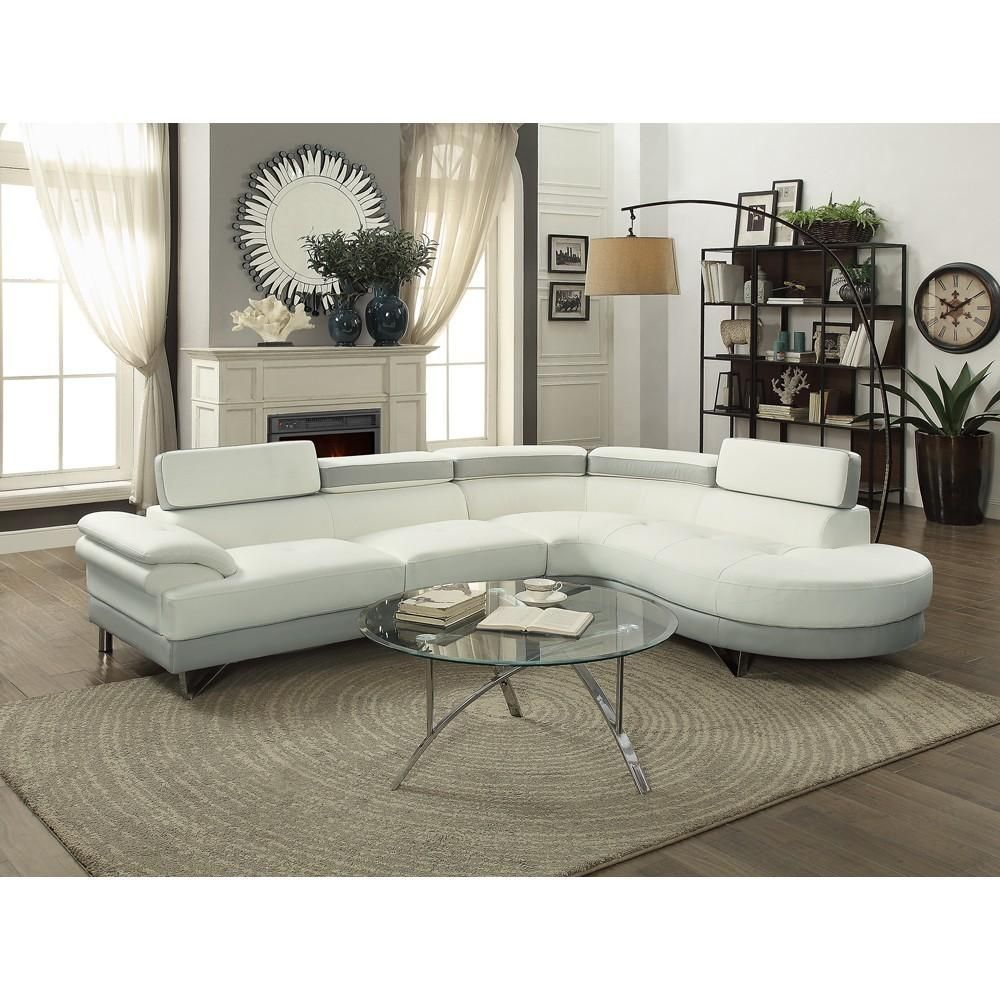 Awesome 43 Classy Curved Leather Sectional Sofa Ideas White