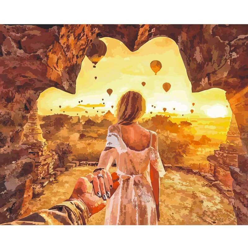 Malen Nach Zahlen Liebespaar Sonnenuntergang Malerei Malen