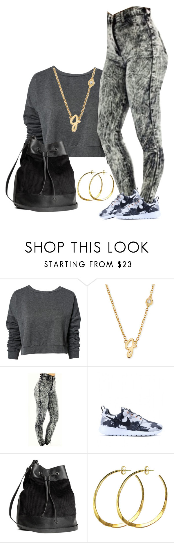 """""""Untitled #465"""" by brooklyn-taylor-ford ❤ liked on Polyvore featuring ONLY, Sydney Evan, NIKE, H&M and Rebecca Norman"""