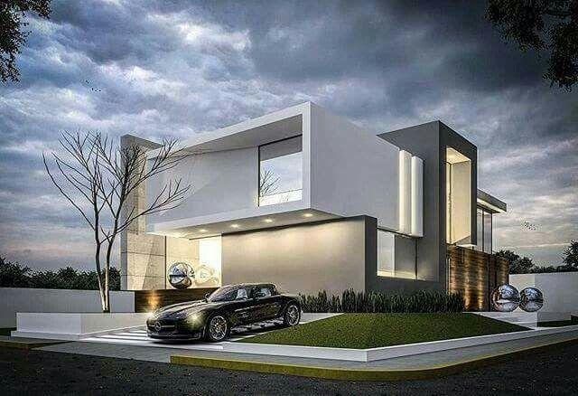 Pingl par micaela daghero sur casas pinterest fa ade for Facade de villa moderne