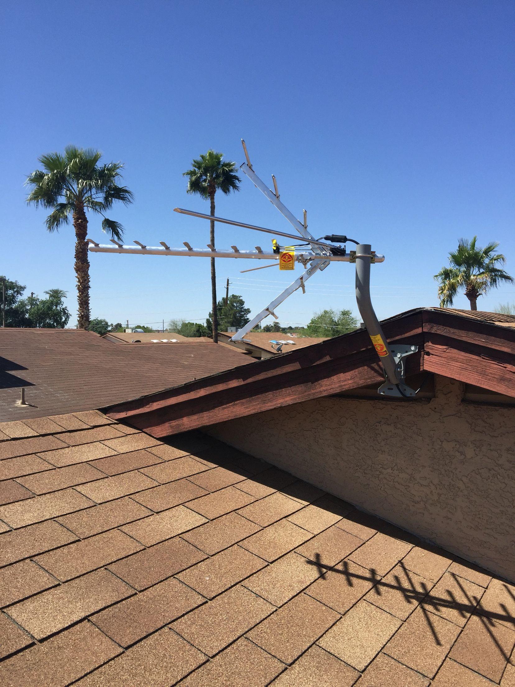 An Outdoor HDTV Antenna Installation In Peoria, AZ. An Antenna, Like A  Satellite
