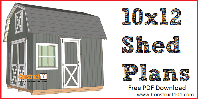 10x12 Barn Shed Plans Construct101 Shed Plans Barns Sheds Shed