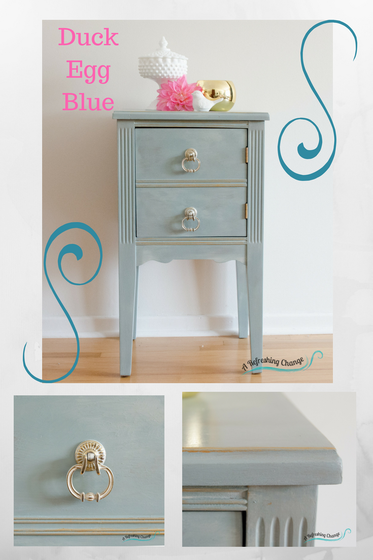 This Stylish 1940s Bedside Table Was Transformed With Annie Sloan