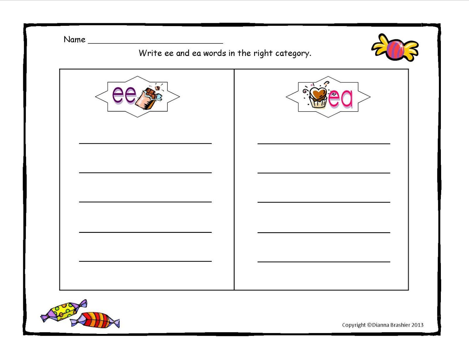 Blank Word Sort Template Teaching Spelling Word Work On