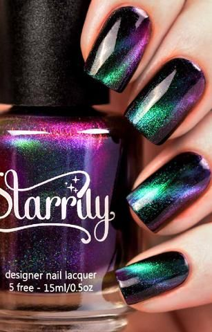 Beautiful Magnetic Nail Polish by Starrily | Non Toxic Formula