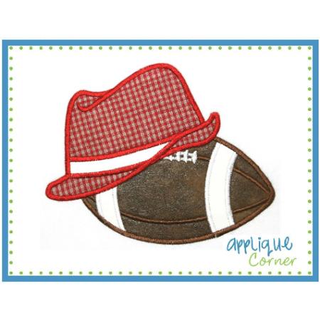 Fedora And Football Applique Design Applique Designs Applique Bear Bryant Hat