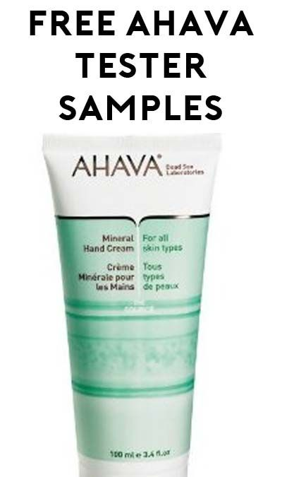 free ahava insider product tester samples