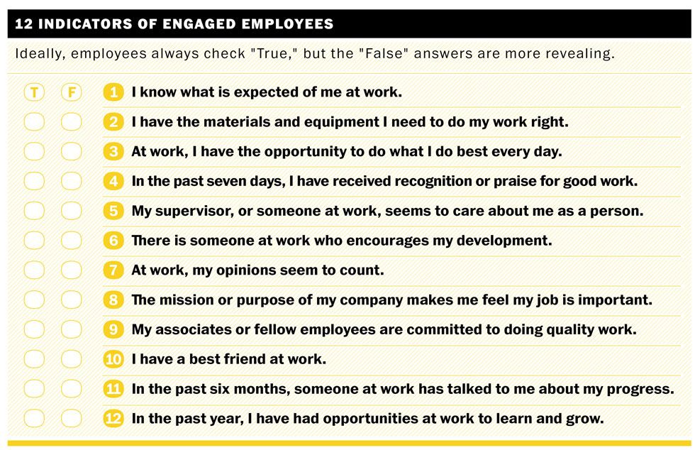 12 Questions to Gauge Employee Engagement – Employee Engagement Survey Template