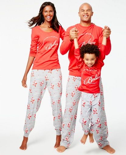 a0ced7199357 Family Matching I Believe Christmas Pajamas