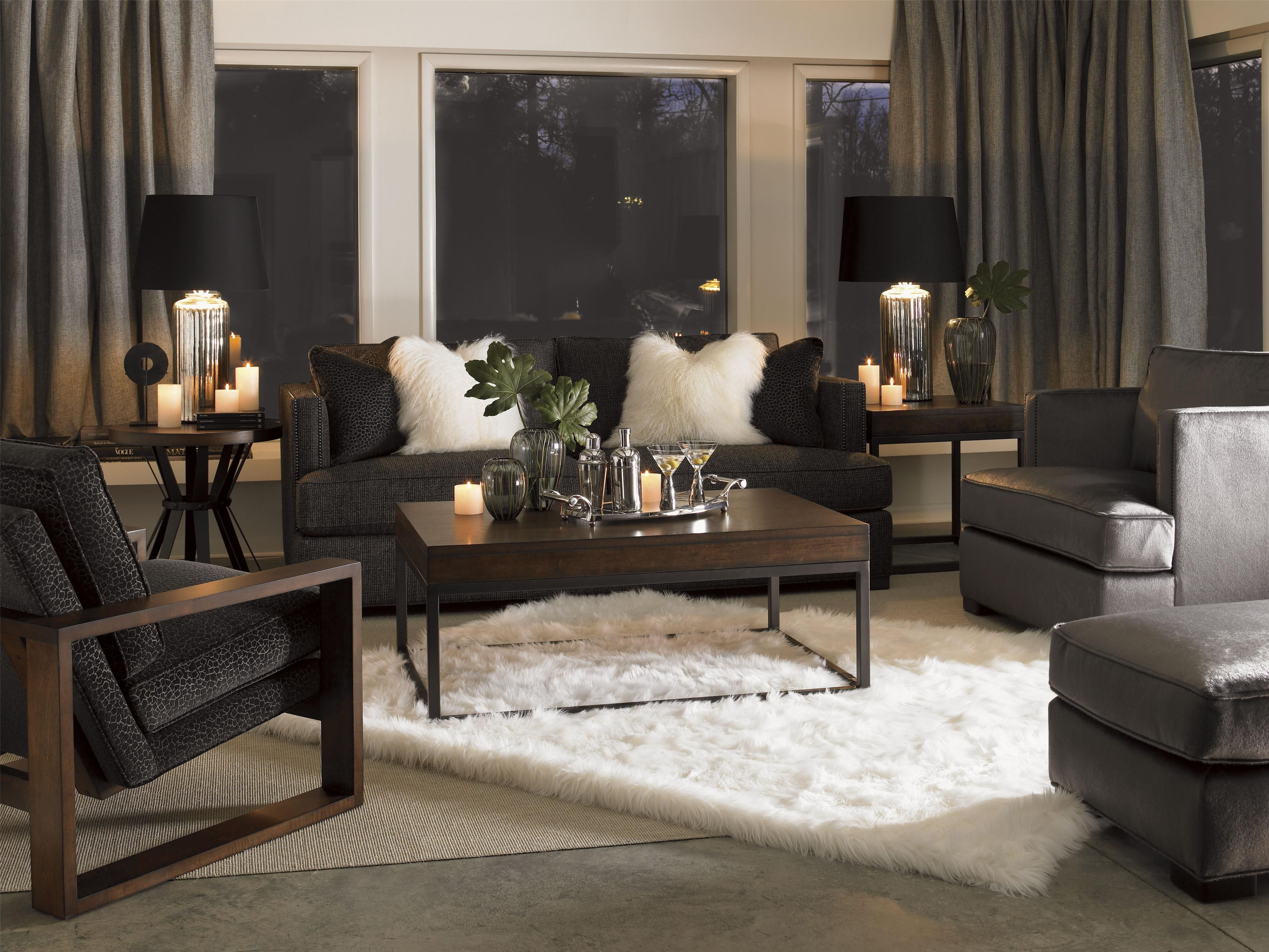 11 South Axis Sofa & Chairs with Exposed Wood by Lexington Home