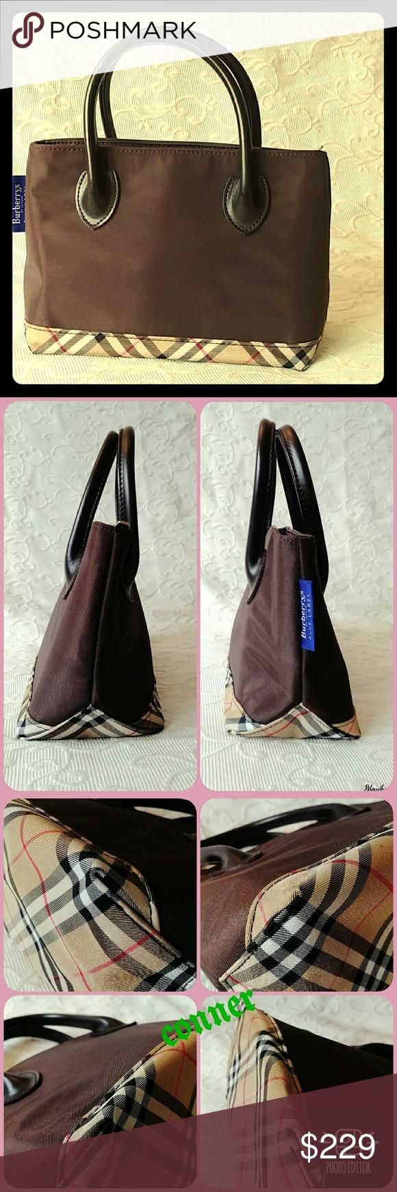 8f6435bee6ca ✨BURBERRY BLUE LABEL NOVA CHECK small Nylon💕💖 Authentic BURBERRY BLUE  LABEL NOVA CHECK Handbag Nylon Leather Pre love condition size SMall but  cute great ...