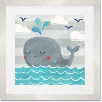 Highland Dunes 'Let's Set Sail – Whale' Framed Painting Print   Wayfair