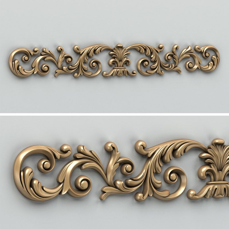 Wood Carved Horizontal Decor