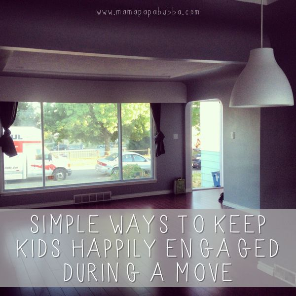 Simple Ways to Keep Kids Happily Engaged During a Move {or other busy time} | Mama.Papa.Bubba.