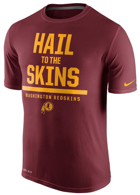 6a67b0f5a NIKE NFL WASHINGTON REDSKINS Hail To The Skins Dri-Fit Mens Burgundy T-Shirt