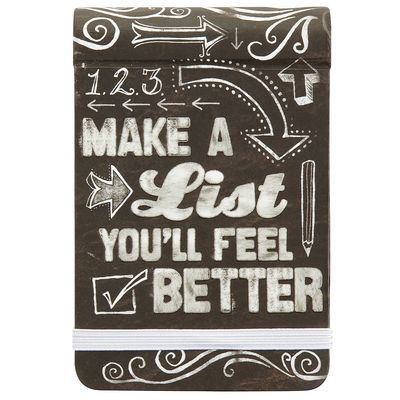 5 95 make a list you ll feel better pier 1 quote spiral notepad