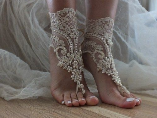 Champagne Beach Wedding Barefoot Sandals In Them You Need To Pay Attention