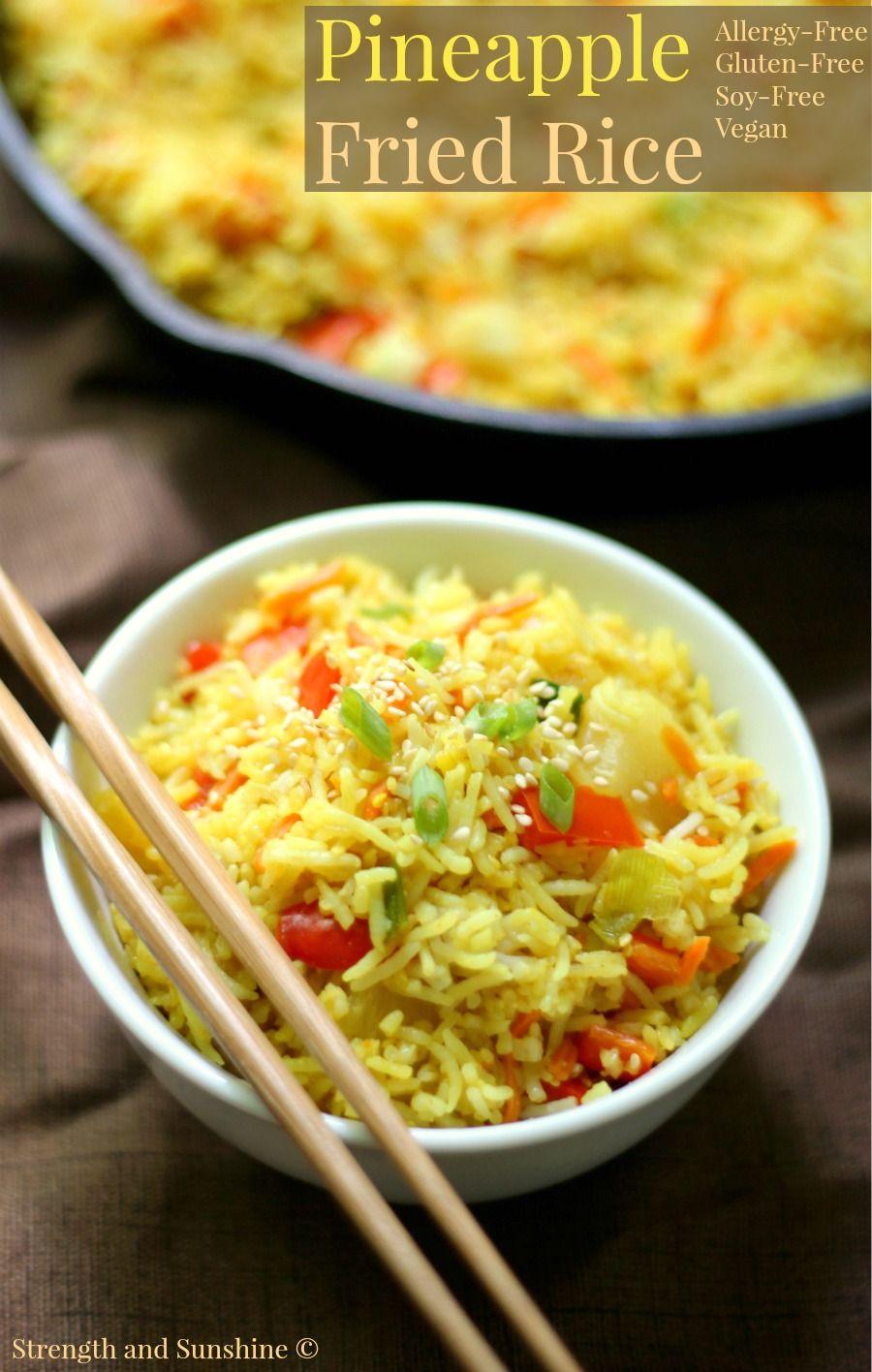 Gluten Free Pineapple Fried Rice Allergy Free Vegan
