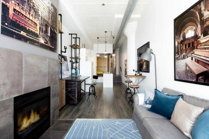 wohnzimmer lampe industrielle wandregale und leuchten - moderne wohnzimmer leuchten