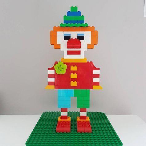 """""""C is clown! #duplochallenge . . . #lego #legoduplo #duplo #kids #toddlers #preschooler #mum…"""" #advisingplay"""