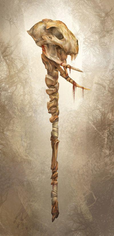 bone staff by yefumm.deviantart.com on @deviantART ...