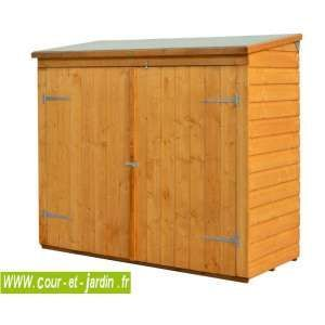 Armoire à vélos / coffre de rangement 176x75cm en bois | Vélo ...