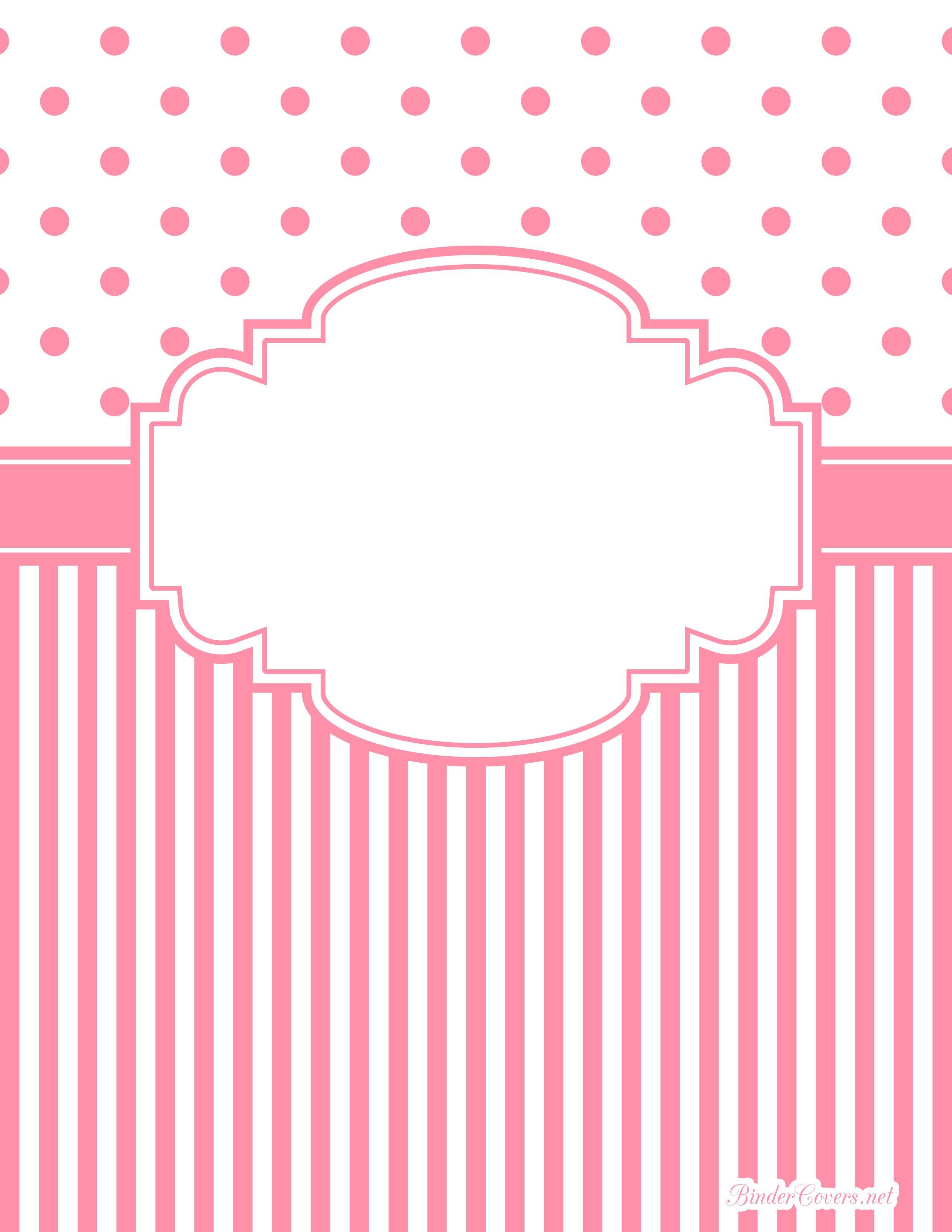 Pink Polka Dot And Stripe Binder Cover Watermarked Jpg 2 550 3 300