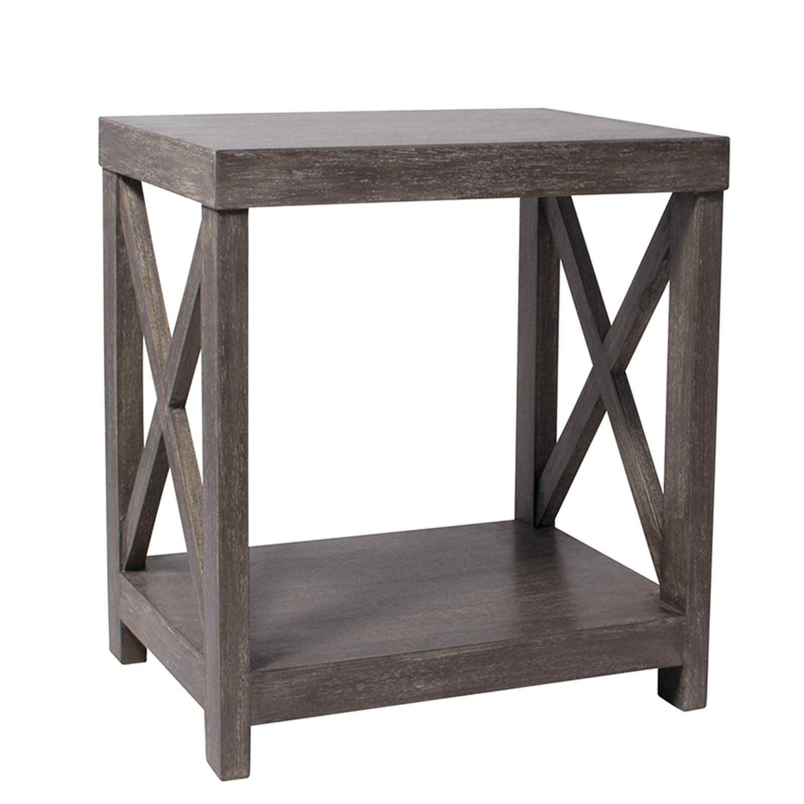 HICKS And HICKS Weathered Vintage Country Style Side Table   This Lovely  Washed Weathered Country Style