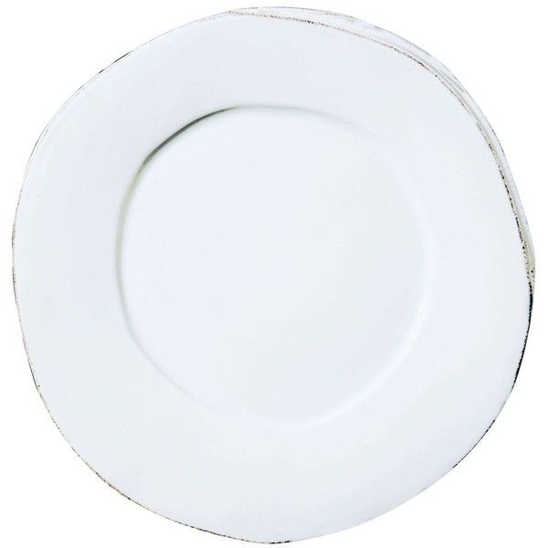 VIETRI Lastra Dinner Plate White Crafted of stoneware this dinner plate has a rustic European-inspired elegance that will elevate any table setting.  sc 1 st  Pinterest & Vietri Lastra White Dinner Plate (65 AUD) ? liked on Polyvore ...