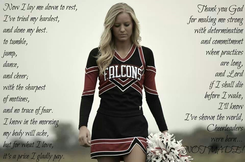 Picture I took of my daughter for her Senior picture and she edited it with this cheer prayer she found. I absolutely love this pic.