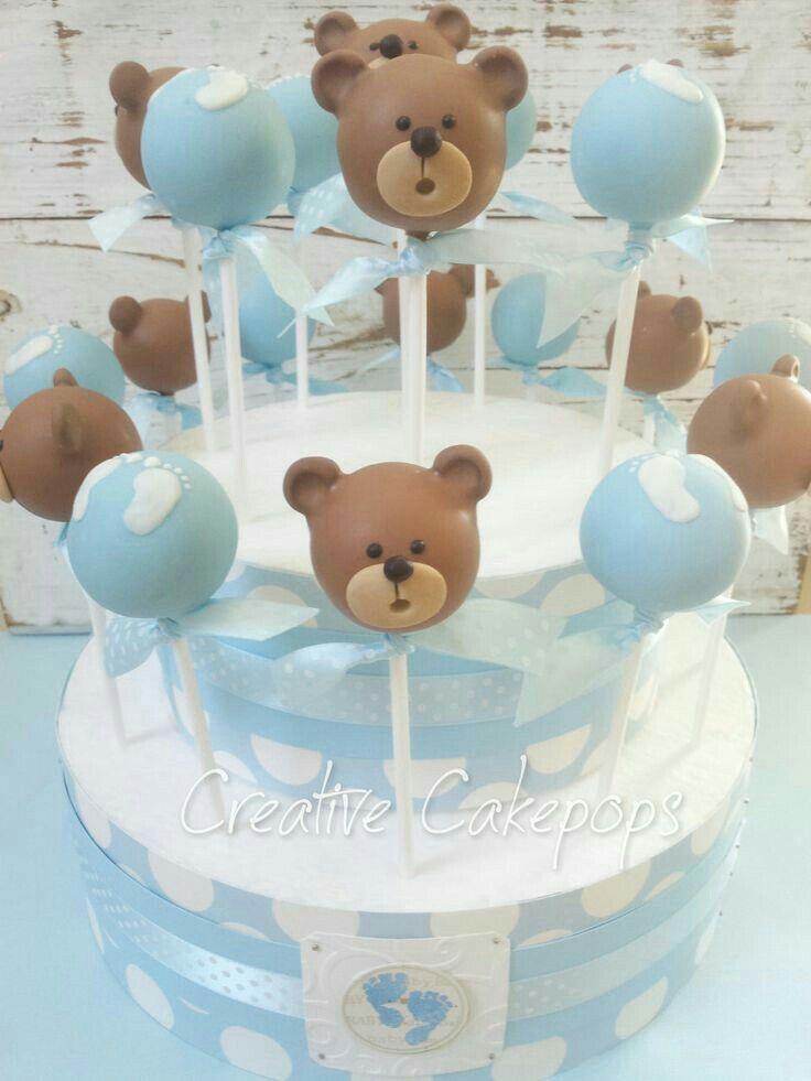 Teddy Bear Cakepops Cake Pops In 2018 Pinterest Baby Shower