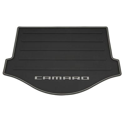 Chevrolet Camaro Floor Mats Cargo Area Premium All Weather Black With Camaro Logo For Use On Convertible Models 2010 Camaro Camaro 2016 Camaro Accessories