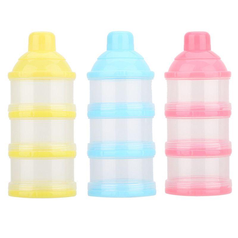 휴대용 우유 분말 공식 디스펜서 식품 용기 저장 먹이 상자 아기 아이 유아 3 그리드 상자