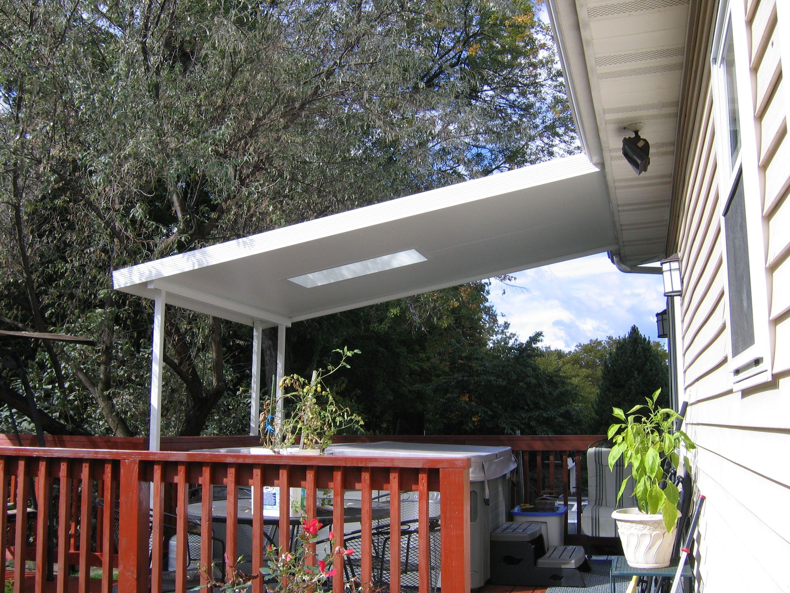 Insulated Flat Pan Aluminum Awning With Skylights Aluminum Awnings Awning Outdoor Decor