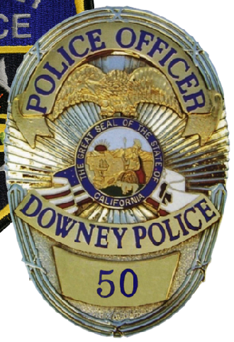 Downey Pd Calif Police Badge Fire Badge Police