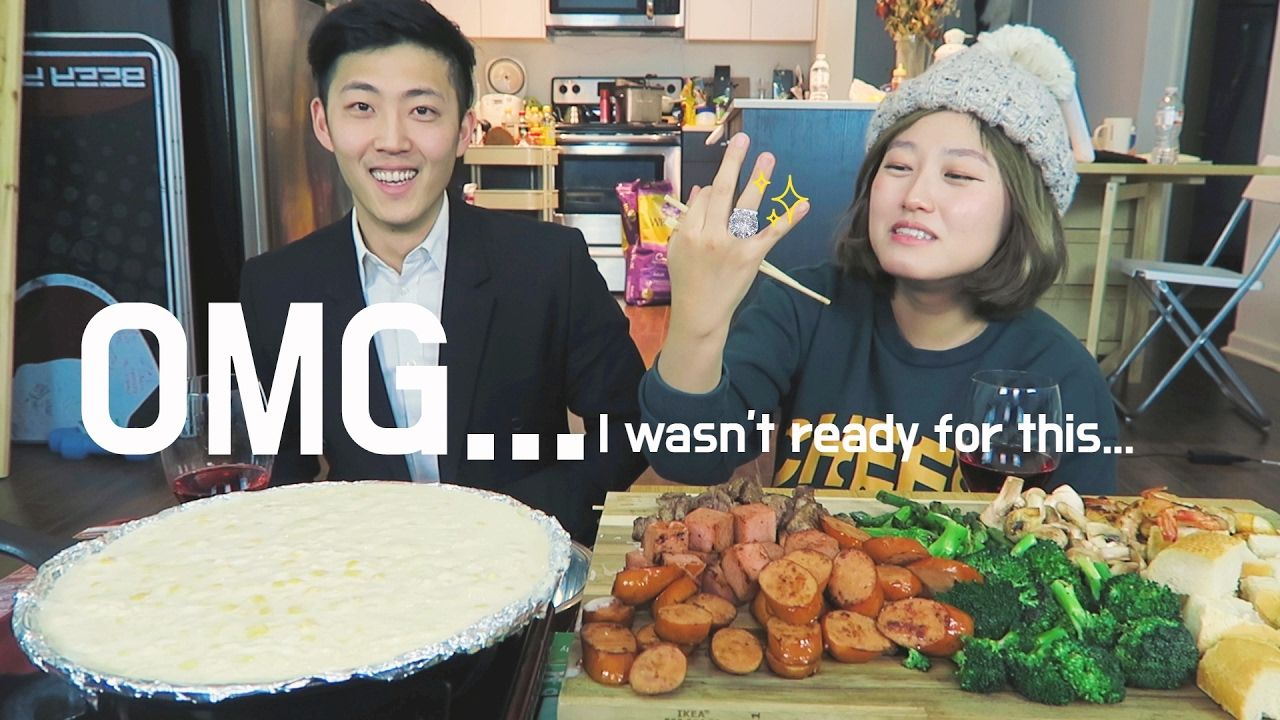 Corn Mozzarella Cheese Fondue Valentine S Day Mukbang Food