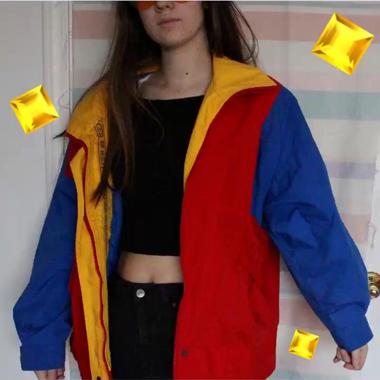 84613a913 Listed on Depop by avavv in 2019 | clothes | Windbreaker outfit ...