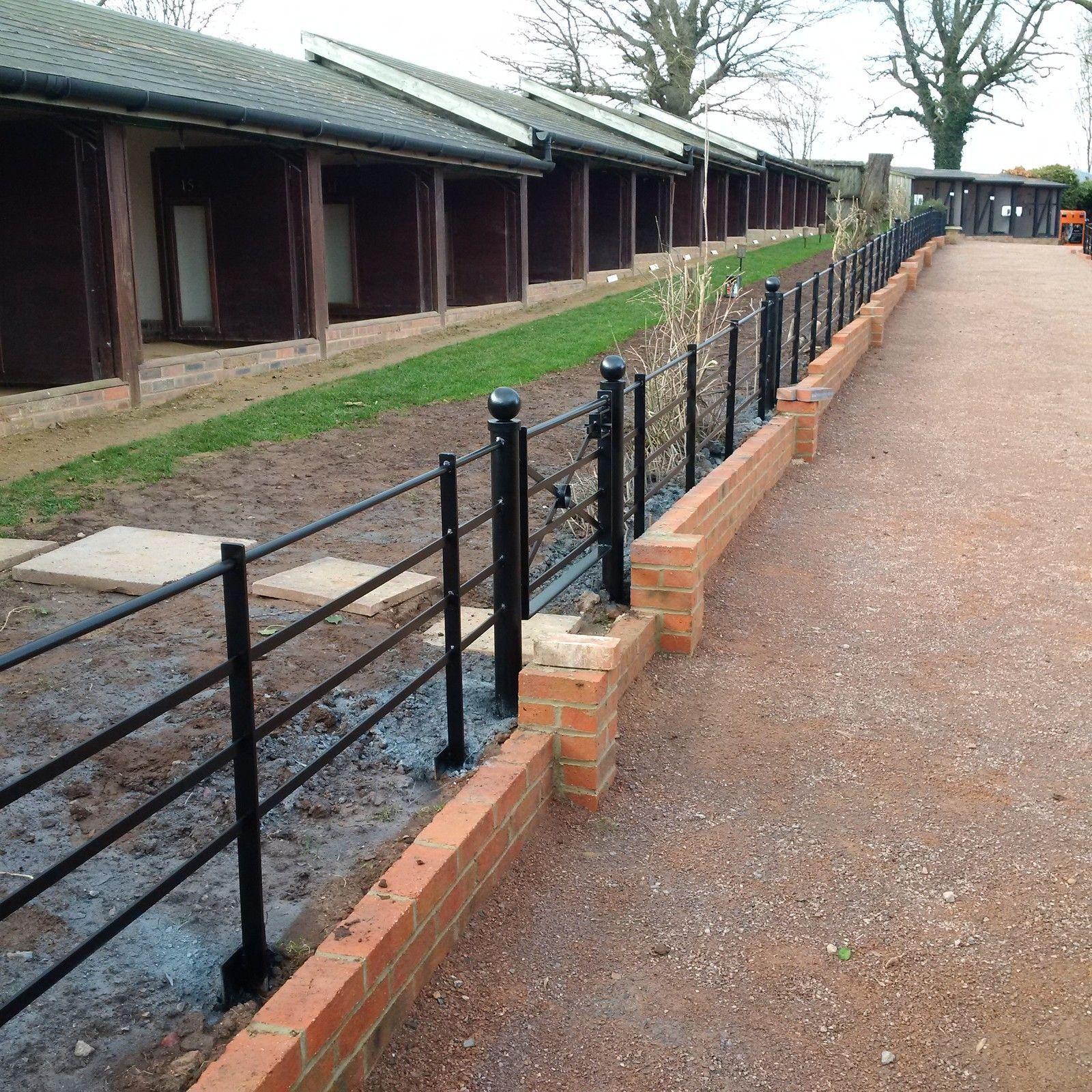 Estate Fencing, Heavy Dty 1.2m Steel, Metal Railings, Wrought Iron Park  Fencing