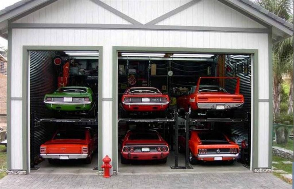 Cool car garages or one of these things is not like the others via moparts car barns - Cool garages pictures plan ...