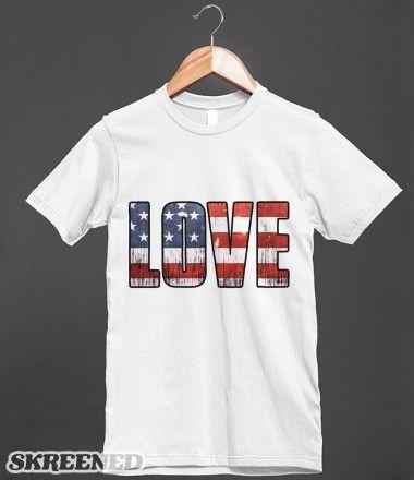 Love Stars And Stripes Us Flag America T Shirt For Adults Kids And Babies Flag Tshirt T Shirt Shirts
