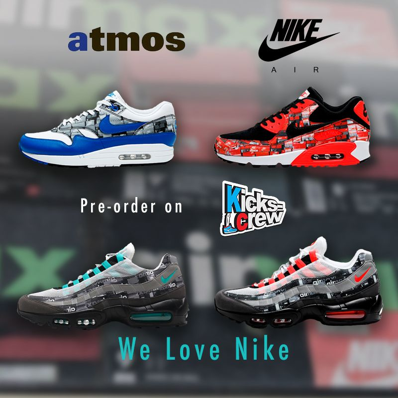 big sale b862d 4e4ed Nike x atmos -We Love Nike Pack Pre-order all of them on www.Kickscrew.com  Now!  solecollector  dailysole  kicksonfire  nicekicks  kicksoftoday   kicks4sales ...