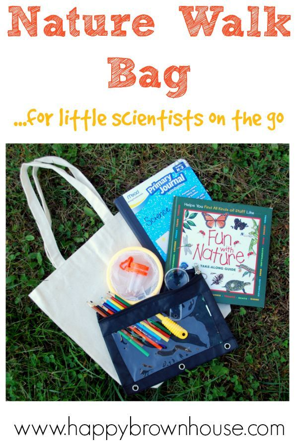Nature Walk Bag for little scientists on the go. Great list of materials to make nature study easier!