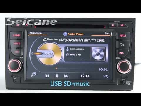 OEM 2002-2008 Audi A4 S4 RS4 Autoradio Navigation stéréo 3D
