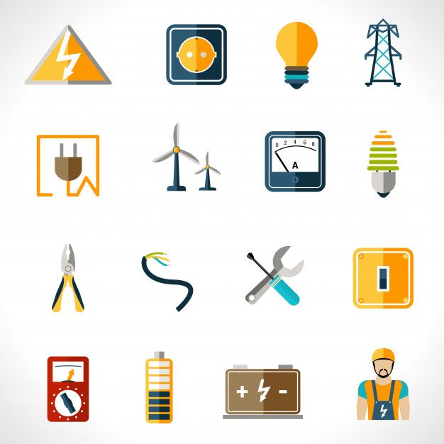 Download Electricity Icons Set For Free In 2020 Icon Set Electric Icon Free Icon Set