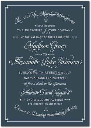 REVEL: Classic Wedding Invitation
