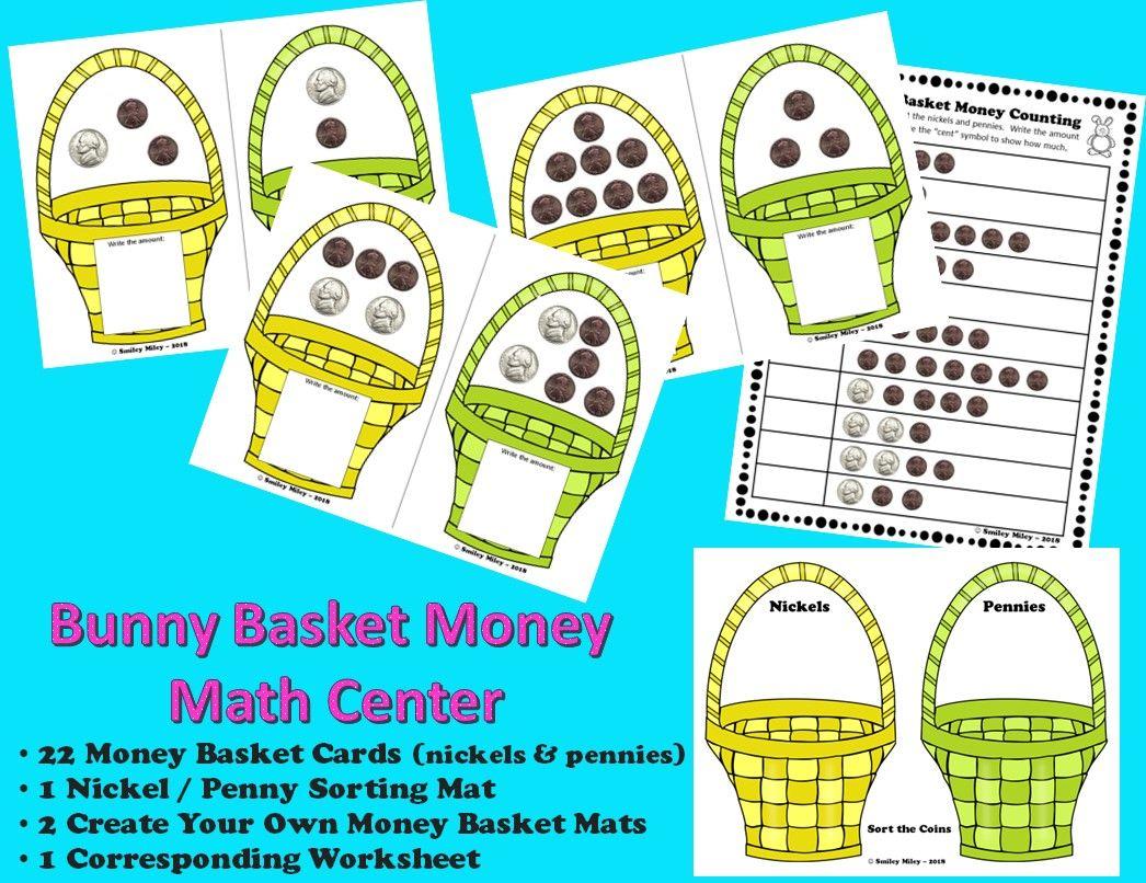 Spring Bunny Basket Money Center