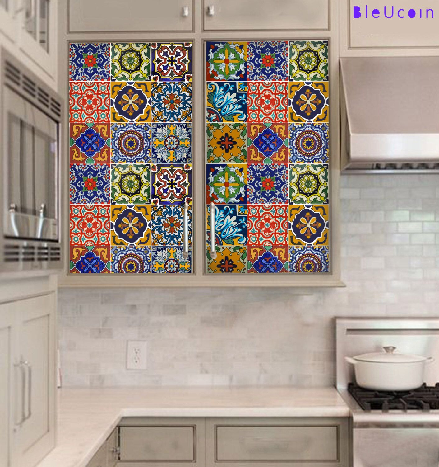 Greece Kitchen Bathroom Floor Tile Wall Stickers Removable Antique Style Decals Pack Of 44 Tile Decals Tiles Wall Tiles