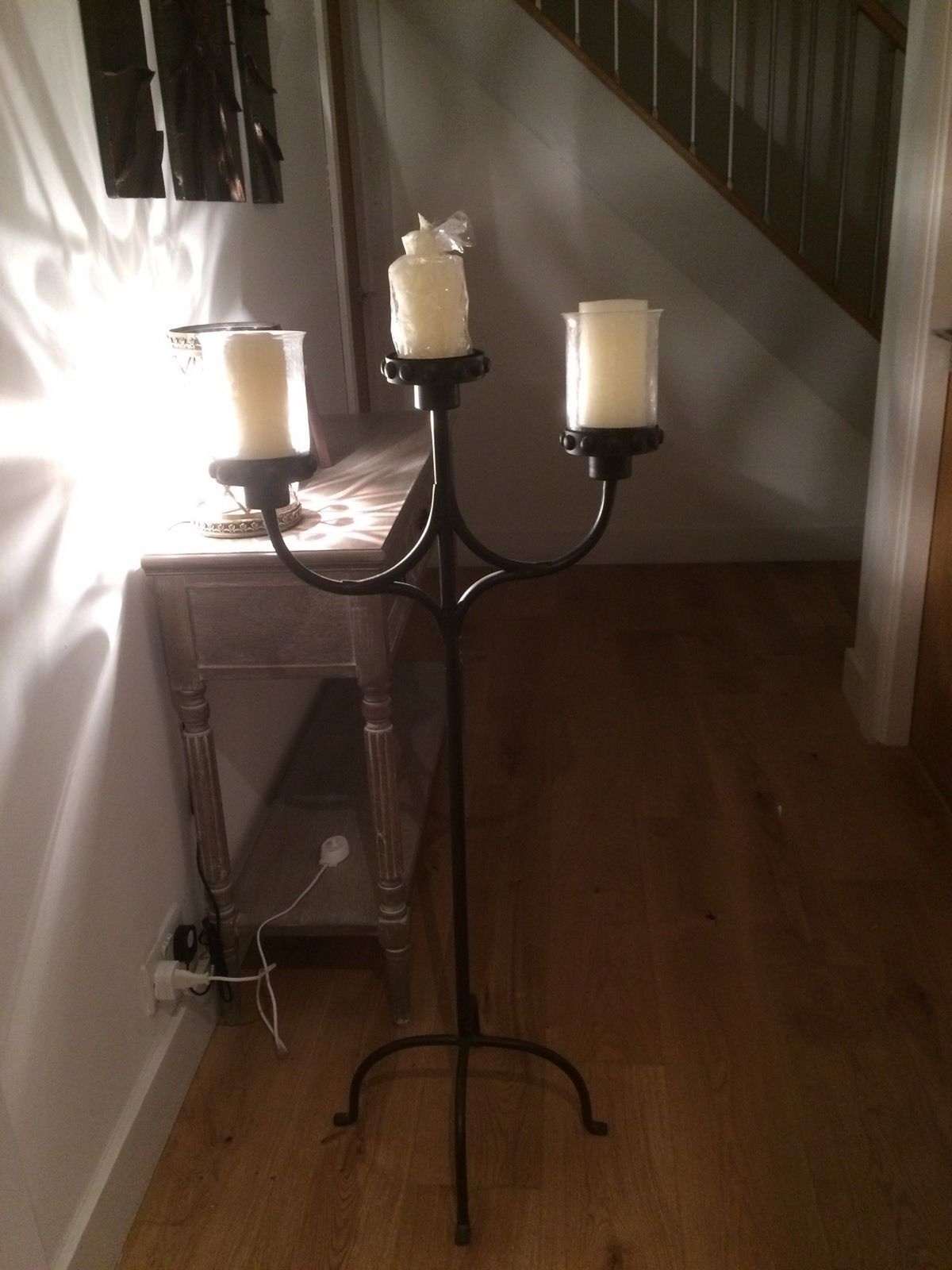 large floor standing candelabra i have added 3 new candles new