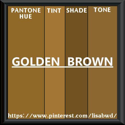 PANTONE SEASONAL COLOR SWATCH GOLDEN BROWN | Color Thesaurus
