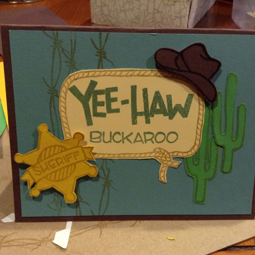 Yeehaw stampinu up birthday cards pinterest